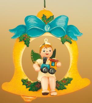 Hubrig Baumbehang Engel Glocke mit Lok Rarität