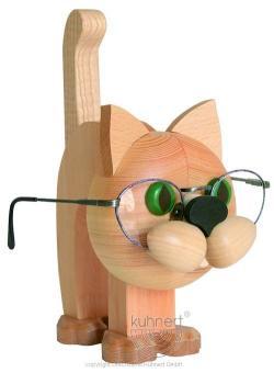 Drechslerei Kuhnert Brillenhalter Katze
