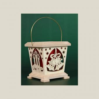 Tietze Teelicht Laterne Weihnachten Buche rot