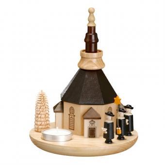 Zeidler Teelichthalter mit Seiffener Kirche