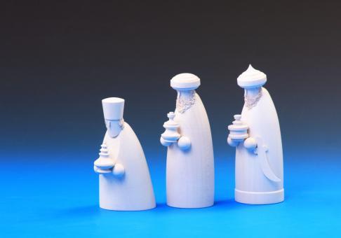 Schalling Krippefiguren Die drei Weisen weiß lasiert 12 cm