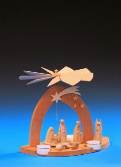 Schalling Pyramide Christi Geburt mit Hirte, modern
