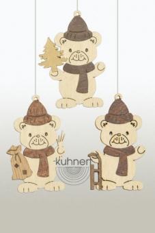 Drechslerei Kuhnert Baumschmuck Weihnachtsteddy mit Sack