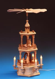 Schalling Pyramide Christi Geburt 2-stöckig, elektrisch