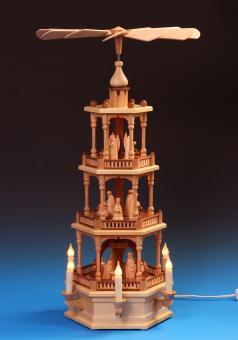 Schalling Pyramide Christi Geburt 3-stöckig, elektrisch