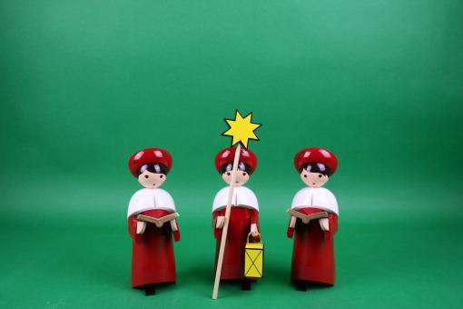 ULMIK Kurrende 3-tlg kardinalrot lackiert 22 cm