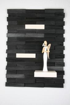 Ulbe Design Holzwandbild art line schwarz/weiß modern