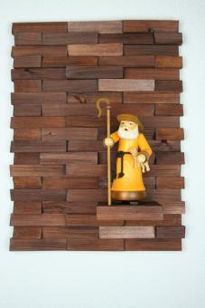 Ulbe Design Holzwandbild art line braun modern