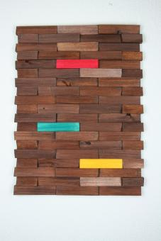 Ulbe Design Holzwandbild art line braun colour modern