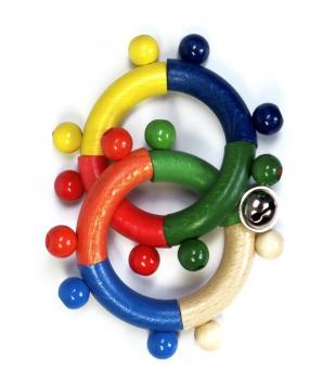 Hess Holzspielzeug Motorikrassel 2 Ringe