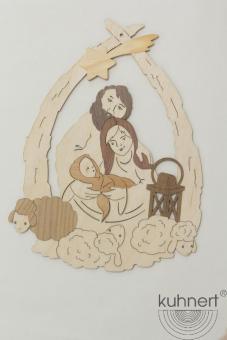 Drechslerei Kuhnert Fensterbild Heilige Familie