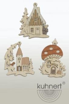 Drechslerei Kuhnert Baumschmuck Winterhaus Kirche Neu 2016
