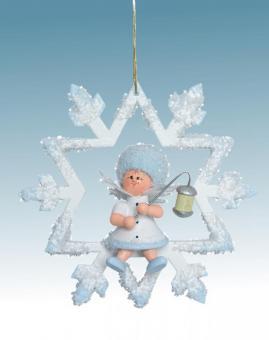 Kuhnert Baumschmuck Schneeflöckchen mit Lampion