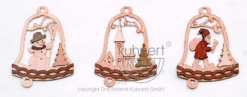 Drechslerei Kuhnert Baumschmuck Glocke Weihnachtsmann