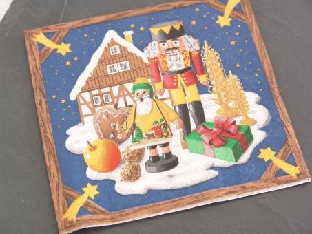 Servietten Motiv Weihnachtsland 33x33 cm