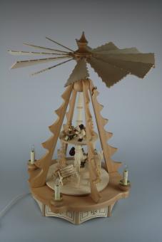 Bauch Baumpyramide Waldmotiv 2-stöckig, elektrisch