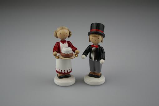 """Flade Jahresfigur """"Moritz und Jenny"""" 2010, limitiert"""