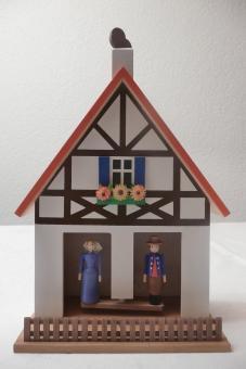 Wetterhaus Fachwerk farbig