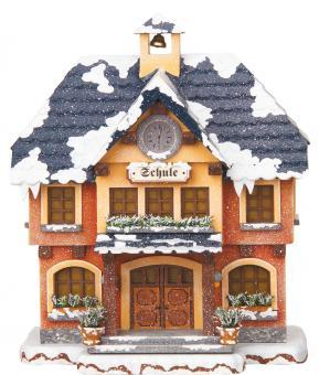 Hubrig Winterkinder Winterhaus  Schule elektrisch