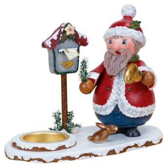 Hubrig Räuchermann Räucherwichtel Weihnachtsmann mit Teelicht