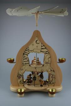 Zeidler Teelichtpyramide Wintertraum