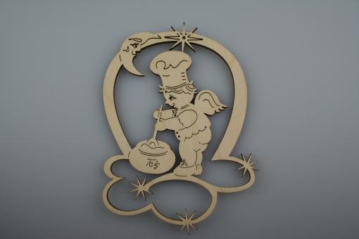 Bäckerengel mit Teigschüssel, 11 cm