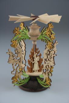 Osterhasenpyramide Hase mit Flöte, 13 cm