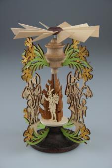 Osterhasenpyramide Frühjahrsbote, 13 cm