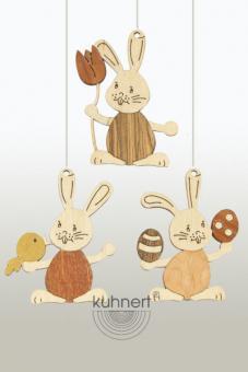 Drechslerei Kuhnert Baumbehang Hase Stupsi mit Ei
