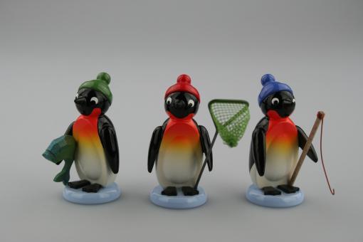 Drechslerei Ulbricht Pinguin Angler, 3-tlg
