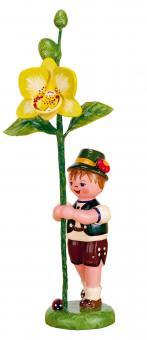 Hubrig Blumenkind Junge mit Orchidee