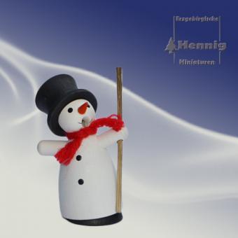 Hennig Miniaturen Räuchermann Rauchmann Schneemann