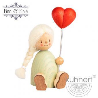 Drechslerei Kuhnert Holzfigur Finja mit Herzballon Neu 2021