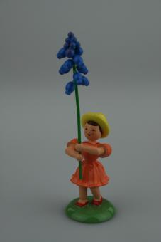 Blank Blumenkind mit Traubenhyazinthe, farbig