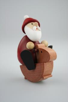 Paul Ullrich Weihnachtsmann auf Schaukelpferd