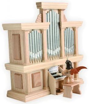 Blank Engel an der Orgel (mit Spielwerk)