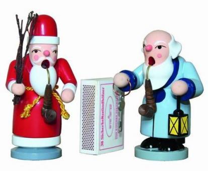 Holzkunst Gahlenz Räuchermann Weihnachtsmann lackiert 10cm